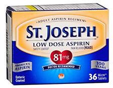 St. Joseph Aspirin 81mg Enteric Coated Tablets 36CT 816526010009DT