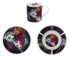 Monster High Kinder Frühstücksset 3 -teilig Tasse, Teller aus Keramik