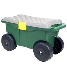 20 Inch Garden Storage Cart and Scooter 12 Inches High Supports 165 Pounds
