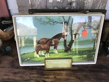 Vintage Anheuser Busch Budweiser Clydesdale Light Up Stand Alone Sign