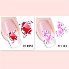 2Sheet/New Fashion Trend Beautifully Beautiful DIY Nail Stickers XF1360+1151