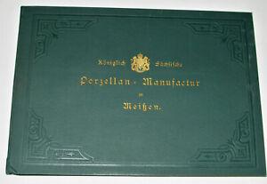 VTG 1890s-1900s GENUINE MEISSEN PORCELAIN CATALOG! FIGURINES/URNS/CLOCKS/GERMAN