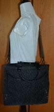 VERA BRADLEY BLACK QUILTED LARGE CROSSBODY TOTE  *GUC*
