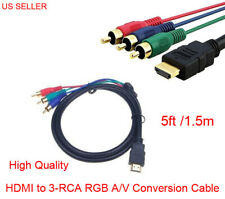 5FT HDMI to 3RCA Male Audio Video Component Convert Cable 1.5M For HDTV 1080P US