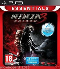 NINJA GAIDEN 3 PS3 Game PlayStation 3 Play Station 3 Videogame Essentials New