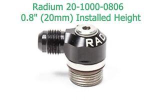 Radium 20-1000-0806 Low Profile Swivel Banjo -8AN ORB Male to -6AN Male 20mm