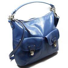 Coach PERIWINKLE BLUE LIQUID GLOSS PATENT HANDBAG F23401 Daisy