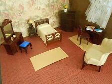 RENWAL BEDROOM PLASTIC DOLLHOUSE FURNITURE MARX IDEAL