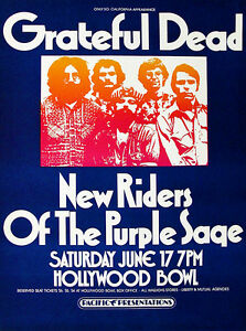 Grateful Dead - New Riders of the Purple Sage - 1972 - Concert Poster