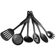 6PCS Non-Stick  Black Nylon Kitchen Tool Cooking Tools Utensils Spoon Black