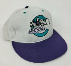 Vintage Charlotte Knights Minor League Fitted Hat Cleveland Indians Pro Line 7.5