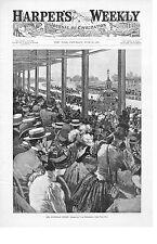 The Suburban Finish -  Horse Racing - Sheepshead Bay Track - 1891 Antique Print