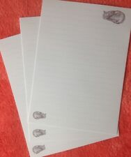 Sleeping Tabby Cat LINED writing paper set with matching envelopes