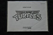 Teenage Mutant Hero Turtles Nintendo NES Manual