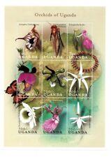 Uganda Flowers on stamps - Orchids Of Uganda Sheet of 9 Stamps - MNH