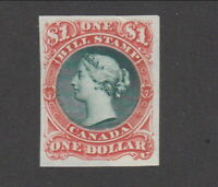 $1 Canada Vermillion & Green Bill Proof on India Paper #FB33 (Lot #F462)