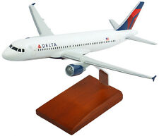 Delta Airlines Airbus A320-200 Desk Display 1/100 Jet Model Aircraft ES Airplane