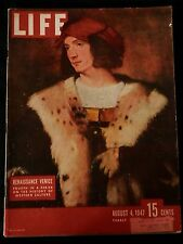 LIFE Magazine August 4, 1947 DEWEY - FRENCHMAN - TULSA TWINS - HARNESS RACING