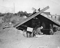 OLD LARGE MILITARY PHOTO, WWII Battle Iwo Jima, Post Office On Iwo Jima