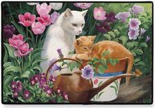 """DOORMAT-CAT Design-18"""" X 27""""--Buggy & Juliette by Fiddler's Elbow"""