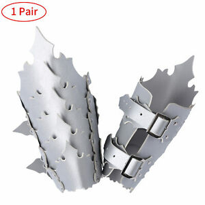 1 Pair PVC Leather Adjustable Metal Buckle Wristbands Arm Guard Bracers Wide