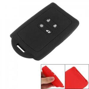 Black Silicone Card Key Cover Protector, Holder fits Renault Koleos Kadjar Megan