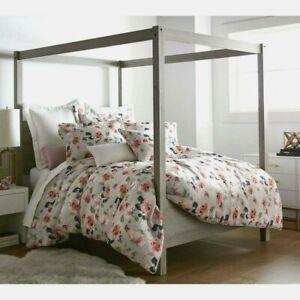 NWT Stunning Sherry Kline KING 3-Piece Comforter Set Bianca Sangria Rose