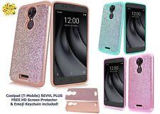 """Coolpad (T-Mobile) REVVL Plus 6.0""""/ 3701A Cute Glitter Bling Sparkle Hybrid Case"""