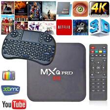 MXQ Pro HD 4K Android 7.1 Smart TV Box Streamer 2+16GB Quad Core+ WIFI Keyboard