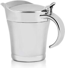 Ovente Stainless Steel Double Wall Insulated Gravy Boat with Lid Silver GB4541S