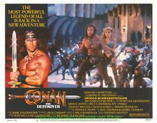 CONAN THE DESTROYER Original 11x14 Inch lobby card #6 ARNOLD SCHWARZENEGGER