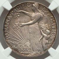 1915-S 50¢ Panama Pacific Silver Commemorative Half Dollar MS64 NGC