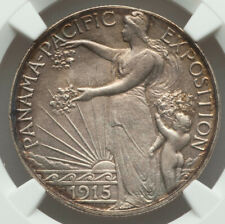 1915-S 50¢ Panama-Pacific Silver Commemorative Half Dollar MS64 NGC