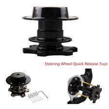 Practical Car  Version Racing Quick Release Adapter Steering Wheel Hub Black