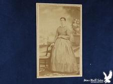 C.G. Gosting Manchester IOWA Civil War Era CDV Portrait Lady Gingham Gown