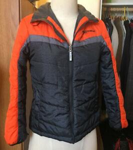 Zero X Posur Youth Med(10-12) Snow Jacket w/Hood orange/grays