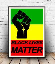 Black lives matter Fist :  Words & artwork, Poster