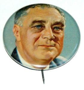 "1932 Franklin D Roosevelt 2"" FDR campaign pin pinback button political president"