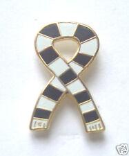 Santos FC Brazil Retro Bar Scarf Ribbon Gold Plated Enamel Lapel Pin Badge
