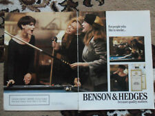 1988 Print Ad Benson & Hedges Cigarettes ~ Pool Table Billiard Girls Playing