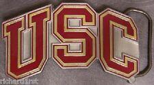 NCAA Pewter Belt Buckle USC Trojans U S C NEW
