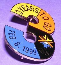SALT LAKE CITY 2002 Olympic Collectible Countdown Pin - 3 Years to Go LE #