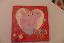 16 TOVAGLIOLI PEPPA PIG PARTY PERSONAGGI COMPLEANNO FESTA CARTA EVENTI BIMBI