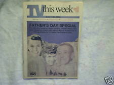 2000 TV THIS WEEK TV Weekly Andy Griffith robert reed john mahoney father's day
