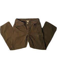 Duluth Trading Co Women's Heavy Brown Outdoor Cargo Work Wear Pants Size 12 x 31