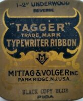 Antique Typewriter Ribbon Advertising Tin Tagger Mittag & Volger Park Ridge NJ
