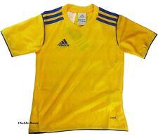 Adidas TABE 11 Kinder Kids Sport Fußball Trikot T-Shirt 3XS ca 116 Gelb Blau NEU