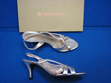 7.5 M Naturalizer Amour New Dime Lea Ladies Womens Silver Metallic Heel Shoes
