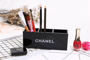 CHANEL MAKE UP BAG COSMETIC BRUSH LIPSTICK HOLDER MASCARA CASE 3 SLOT