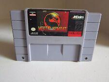Mortal Kombat (Super Nintendo 1993) SNES Game only